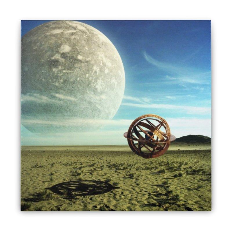 Digital Earth Home Stretched Canvas by mytarotshop's Artist Shop