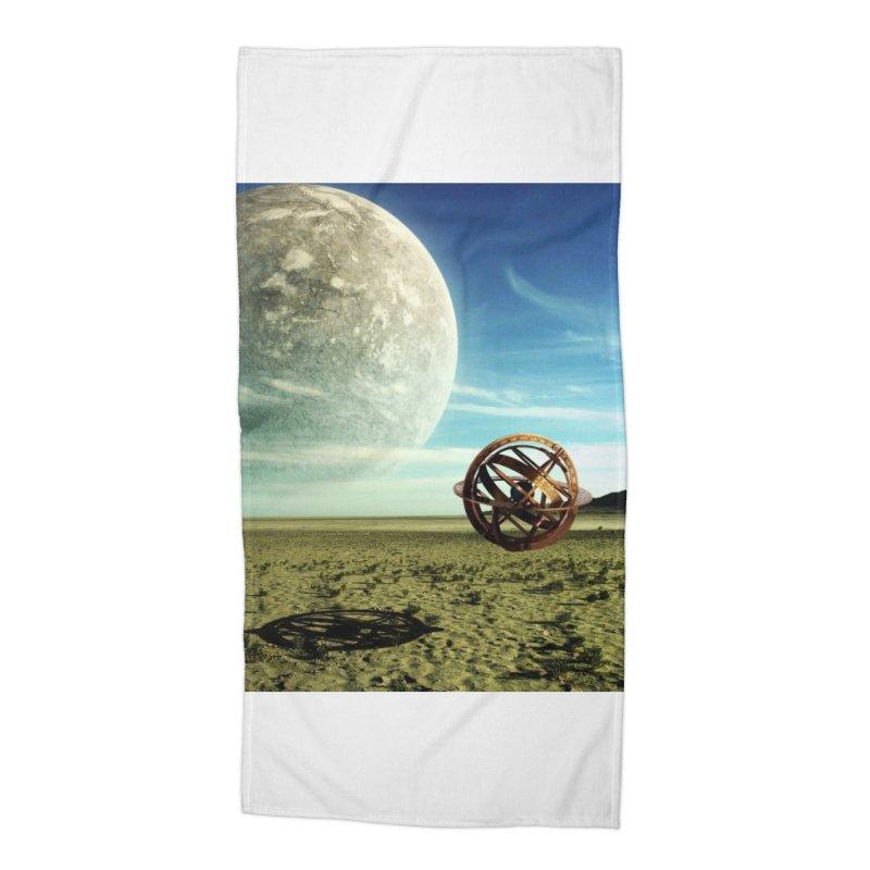 Digital Earth Accessories Beach Towel by mytarotshop's Artist Shop
