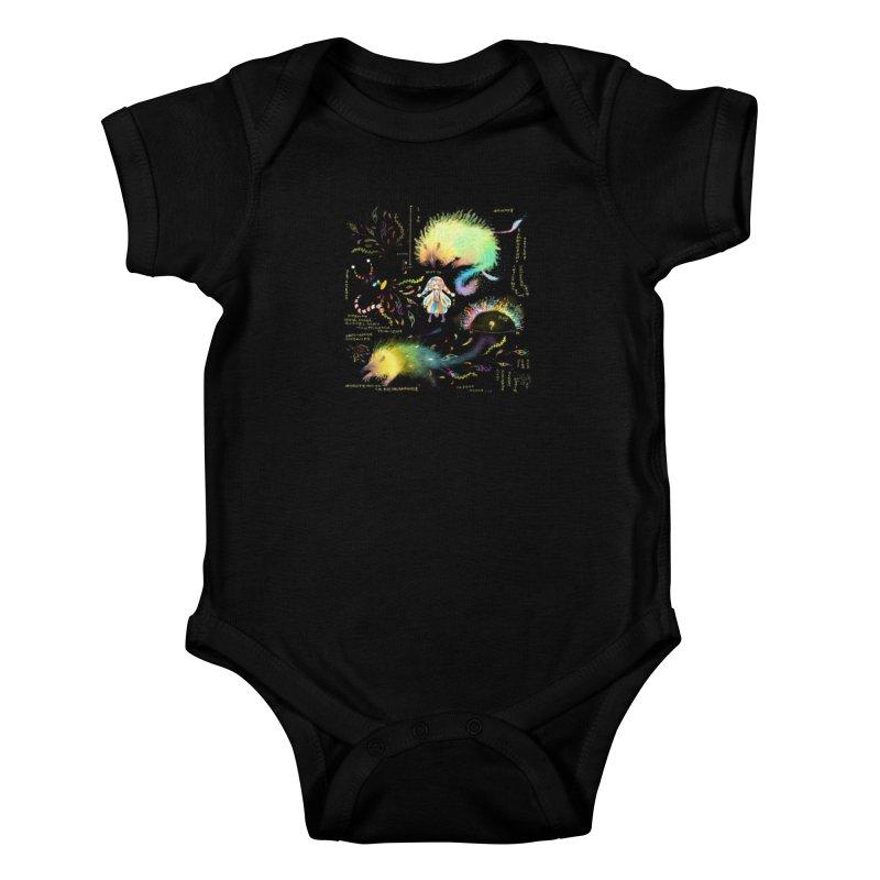 Digital Ocean's Kids Baby Bodysuit by mytarotshop's Artist Shop