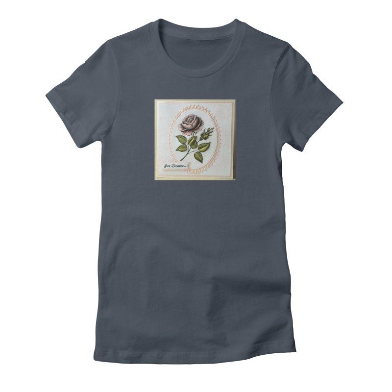 Purple Rose Women's T-Shirt by mytarotshop's Artist Shop