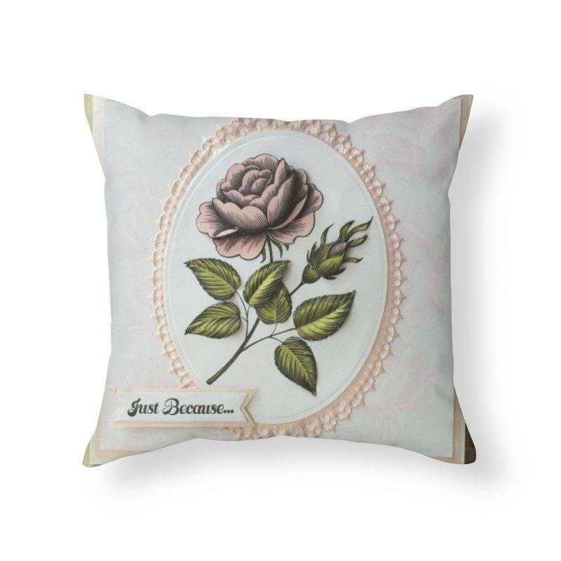 Purple Rose Home Throw Pillow by mytarotshop's Artist Shop