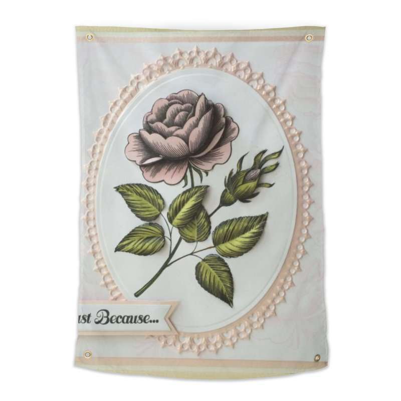 Purple Rose Home Tapestry by mytarotshop's Artist Shop