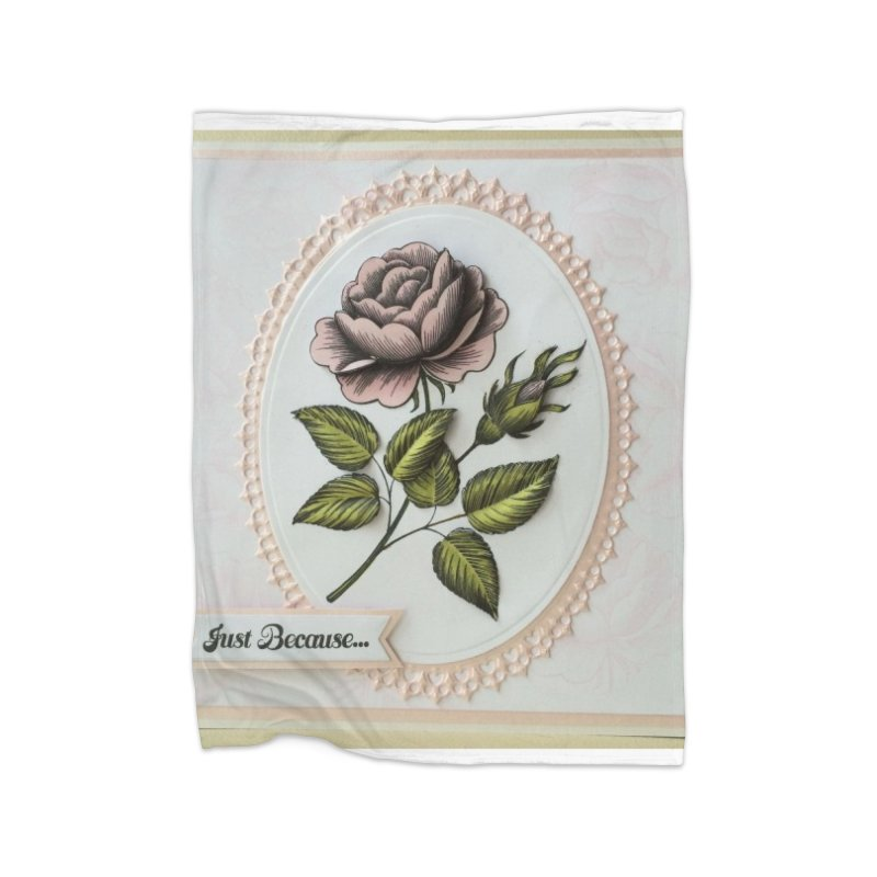 Purple Rose Home Blanket by mytarotshop's Artist Shop