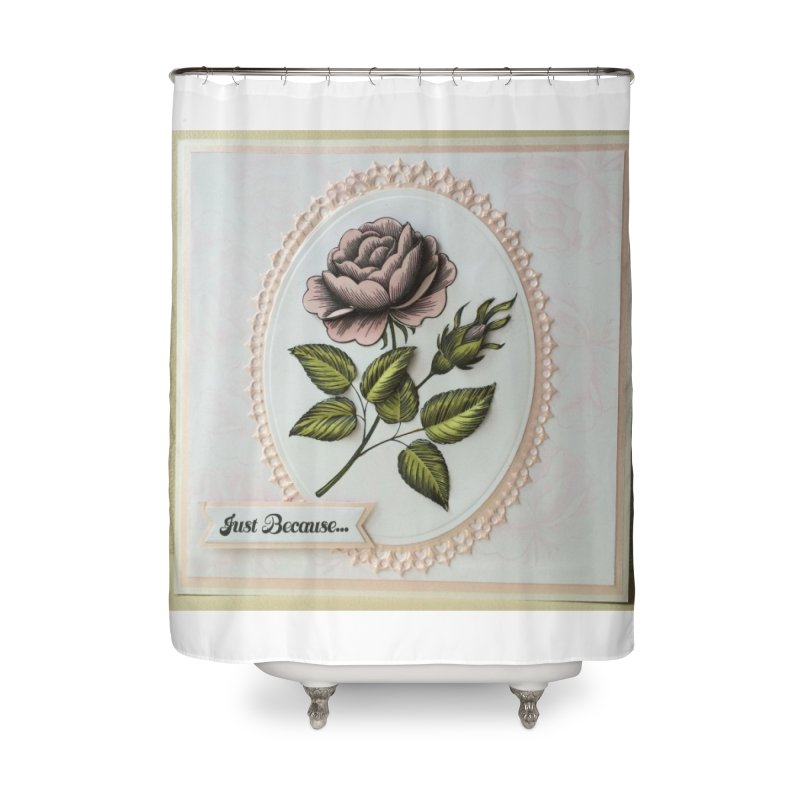 Purple Rose Home Shower Curtain by mytarotshop's Artist Shop