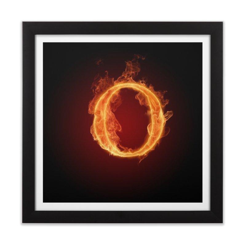 Flaming O Home Framed Fine Art Print by mytarotshop's Artist Shop