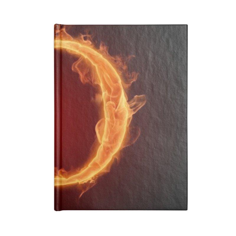 Flaming O Accessories Notebook by mytarotshop's Artist Shop