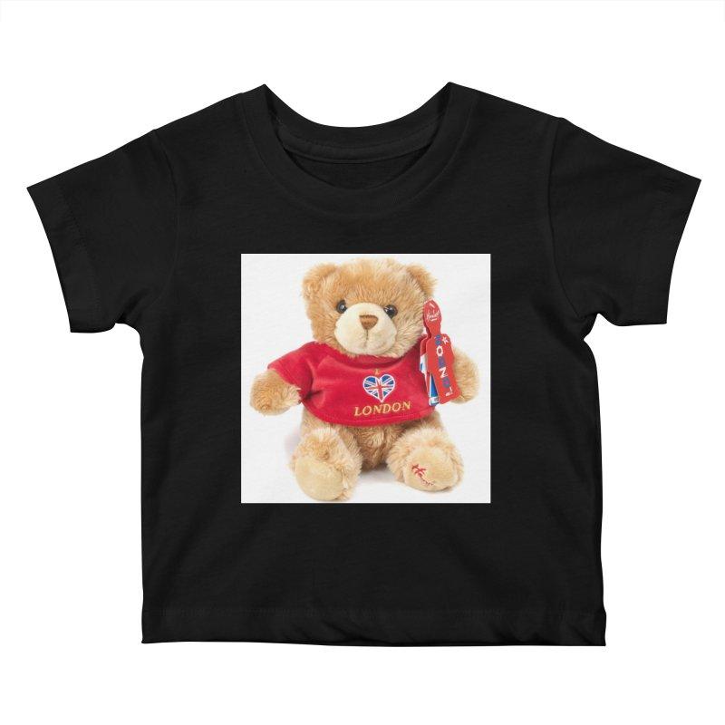 London Teddy Kids Baby T-Shirt by mytarotshop's Artist Shop