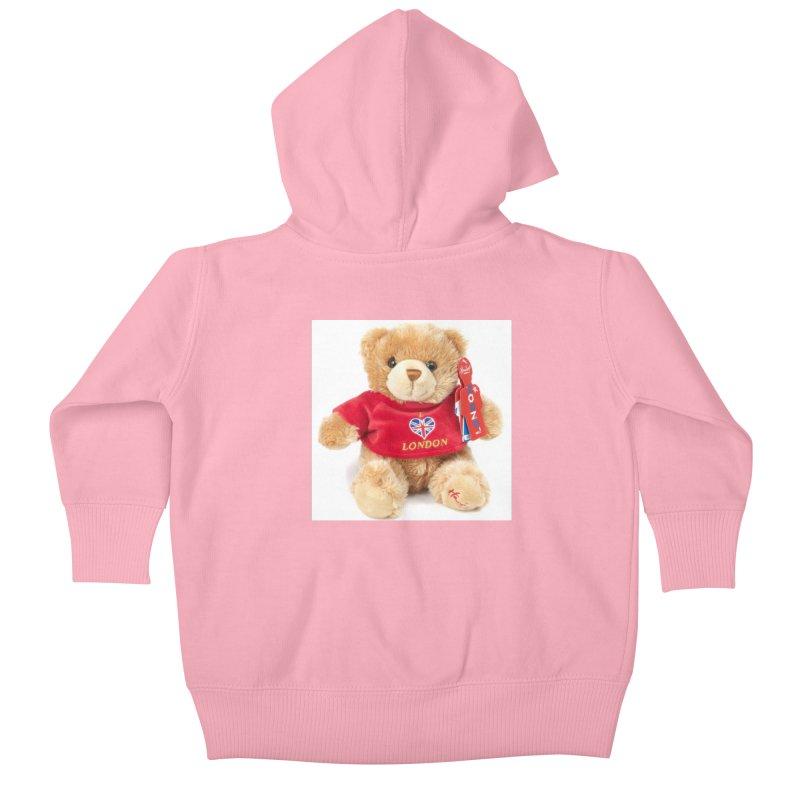 London Teddy Kids Baby Zip-Up Hoody by mytarotshop's Artist Shop