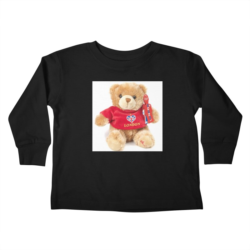 London Teddy Kids Toddler Longsleeve T-Shirt by mytarotshop's Artist Shop
