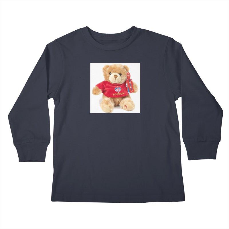 London Teddy Kids Longsleeve T-Shirt by mytarotshop's Artist Shop