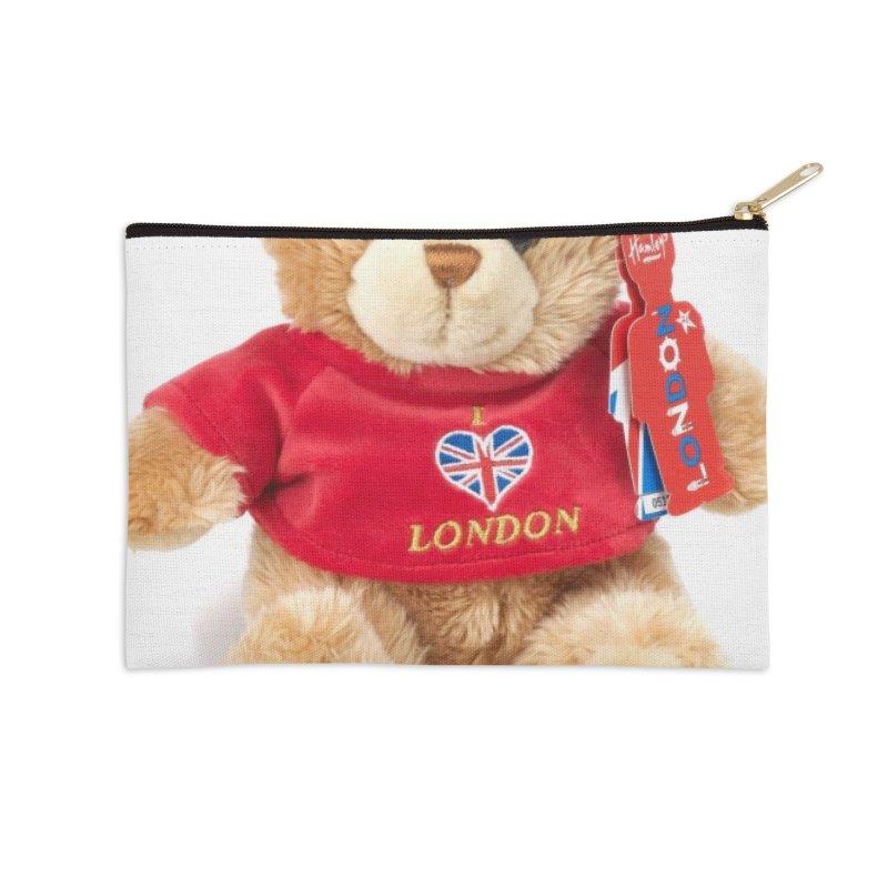 London Teddy Accessories Zip Pouch by mytarotshop's Artist Shop