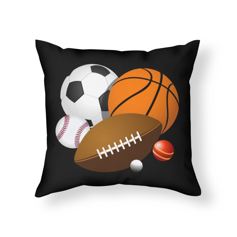 For the Guys Home Throw Pillow by mytarotshop's Artist Shop