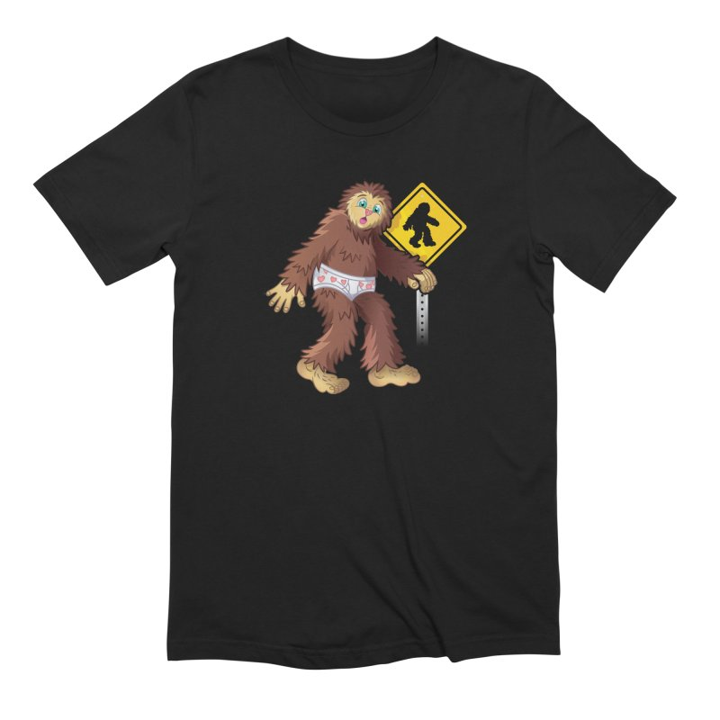 Bigfoot in underpants Men's T-Shirt by Mythical Universe's Artist Shop