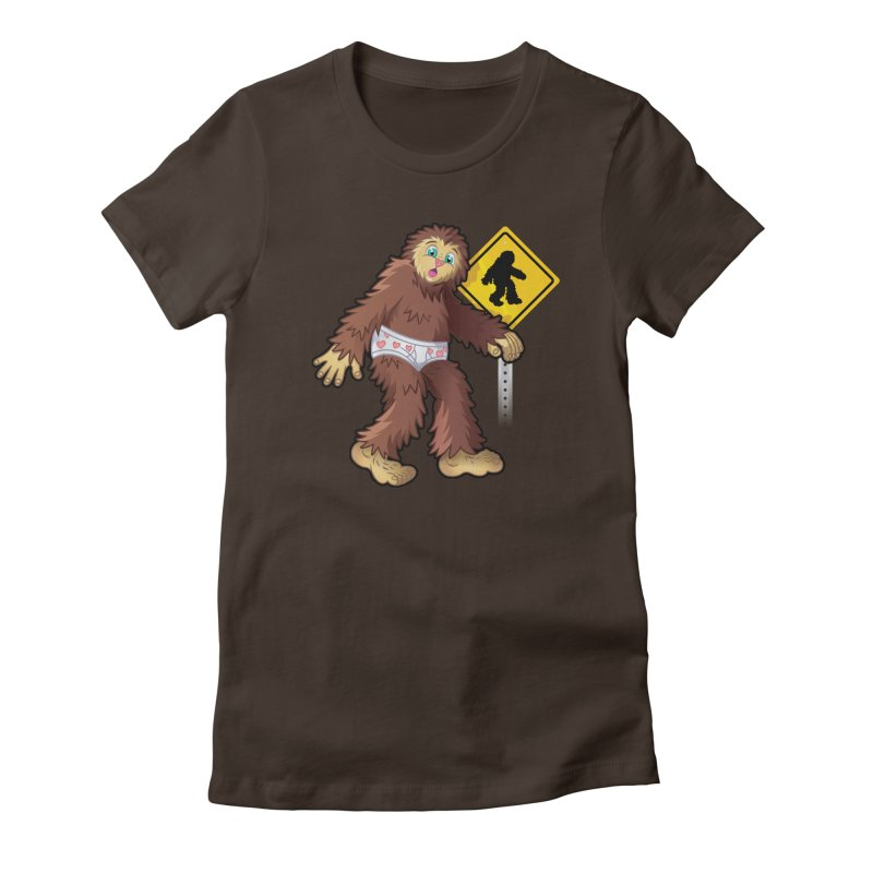 Bigfoot in underpants Women's T-Shirt by Mythical Universe's Artist Shop