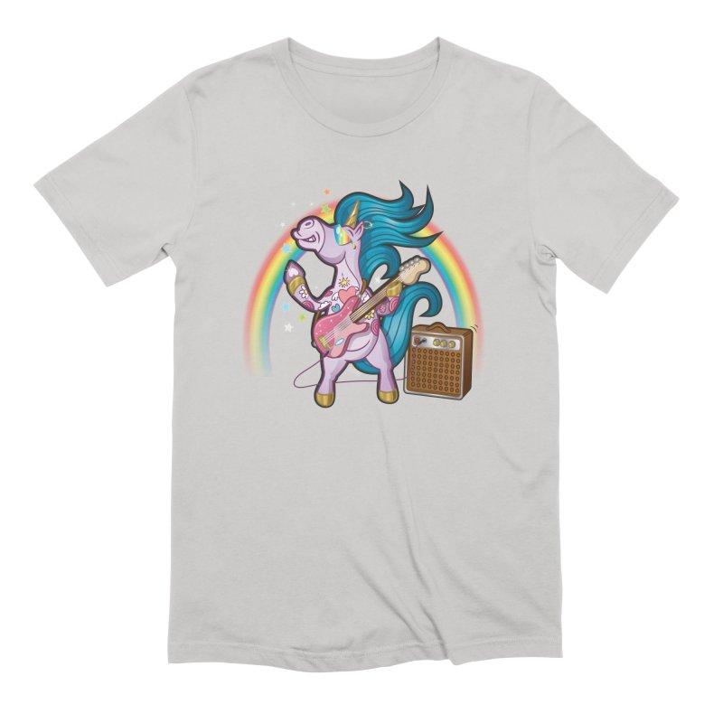 Unicorns Rock Men's T-Shirt by Mythical Universe's Artist Shop