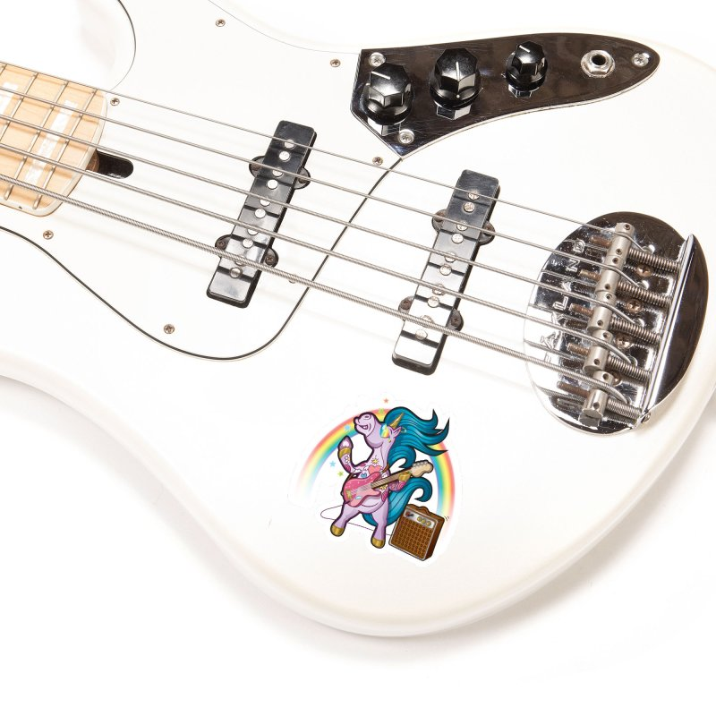 Unicorns Rock Accessories Sticker by Mythical Universe's Artist Shop