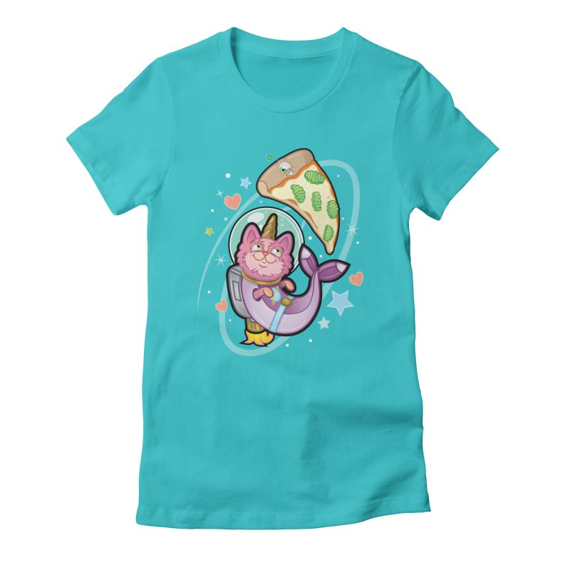 Space Mer-Cat-Corn Women's T-Shirt by Mythical Universe's Artist Shop