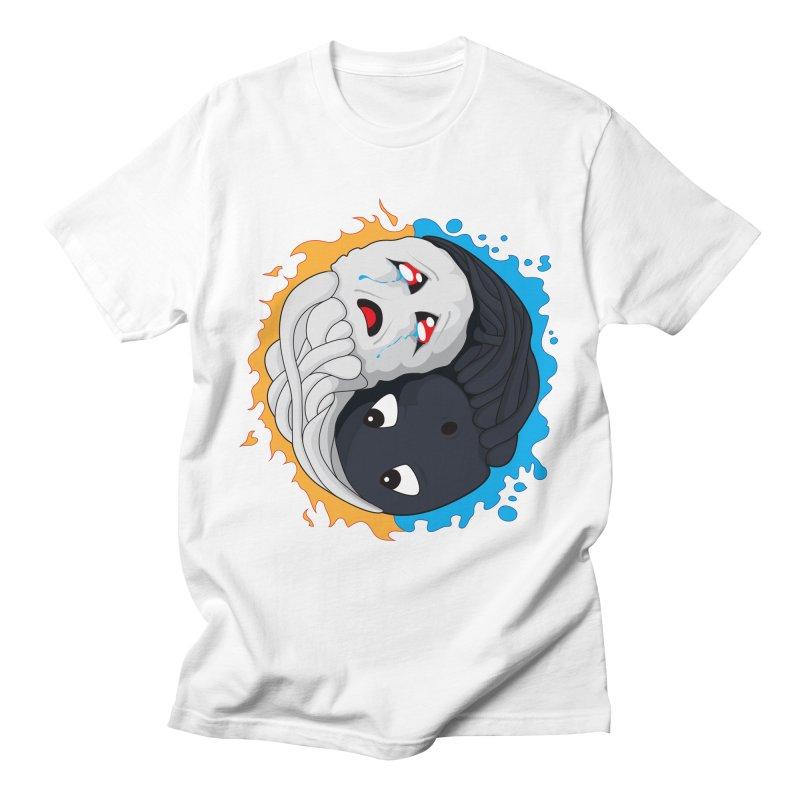 Yin Yang Ghast Squid Men's T-Shirt by Mythic Ink's Shop