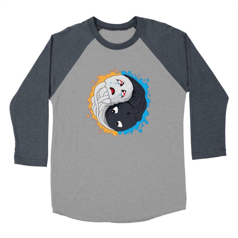 Yin Yang Ghast Squid Men's Baseball Triblend Longsleeve T-Shirt by Mythic Ink's Shop