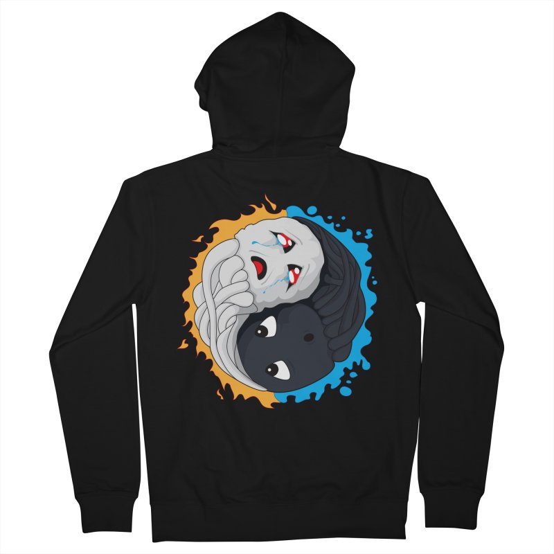 Yin Yang Ghast Squid Women's French Terry Zip-Up Hoody by Mythic Ink's Shop