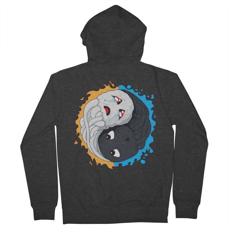 Yin Yang Ghast Squid Men's Zip-Up Hoody by Mythic Ink's Shop