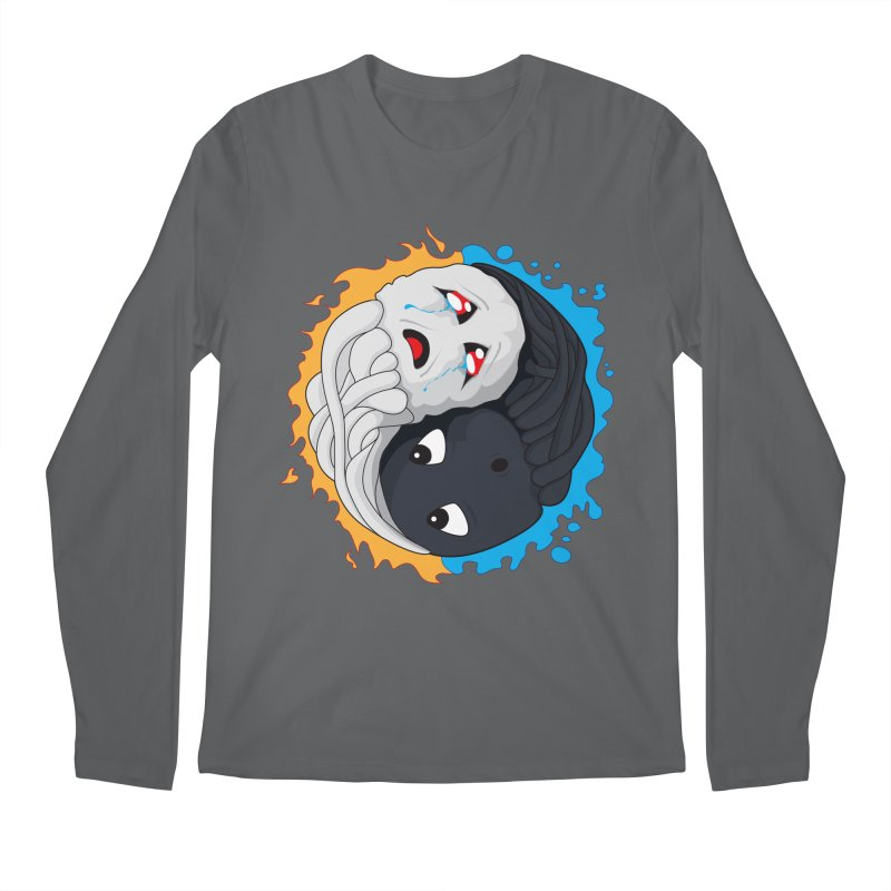 Yin Yang Ghast Squid Men's Longsleeve T-Shirt by Mythic Ink's Shop