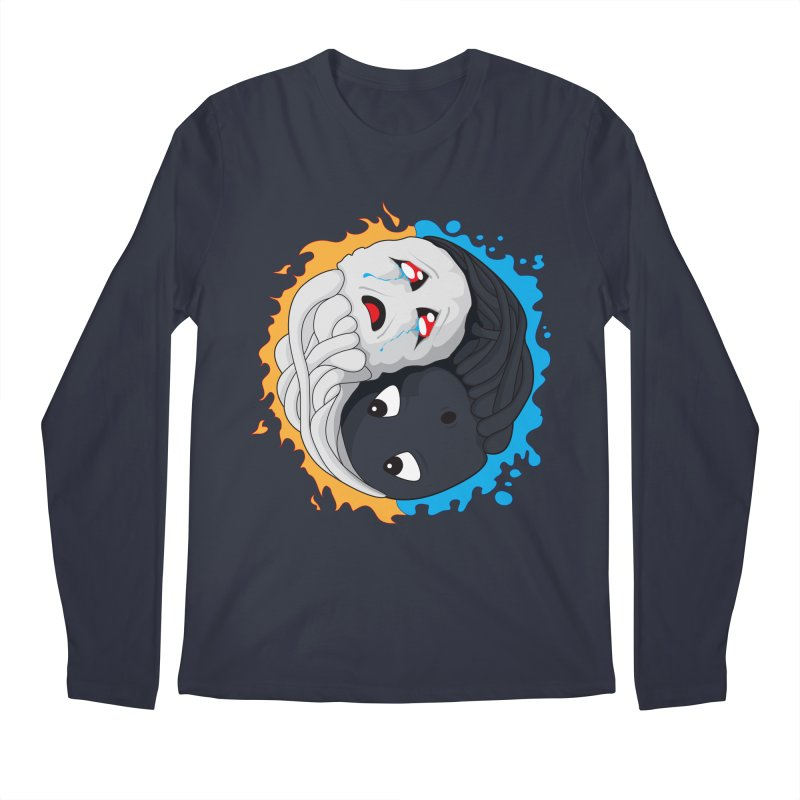 Yin Yang Ghast Squid Men's Regular Longsleeve T-Shirt by Mythic Ink's Shop