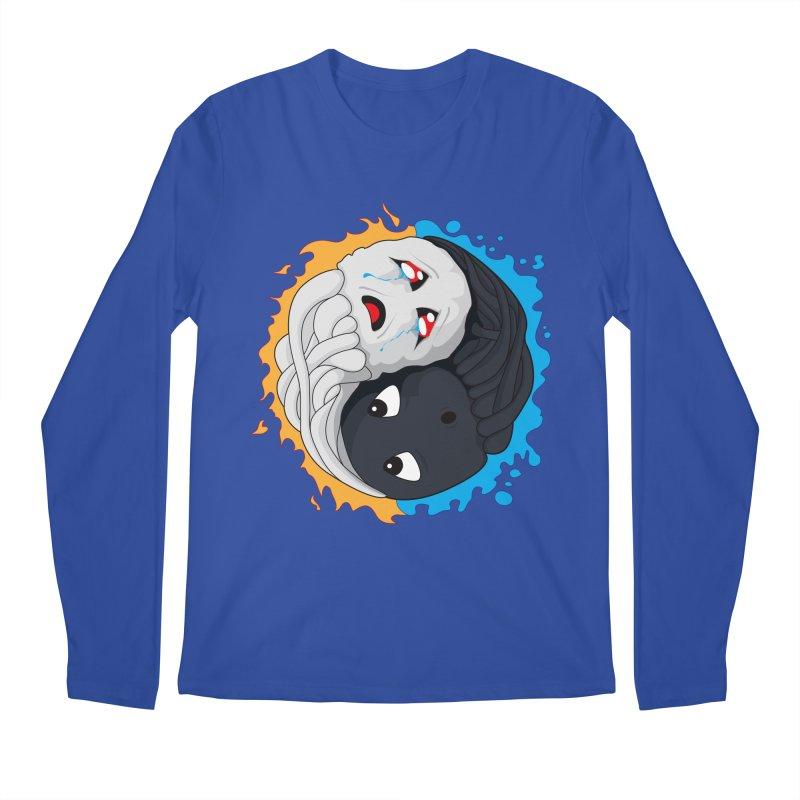Yin Yang Ghast Squid Men's Regular Longsleeve T-Shirt by Mythic Ink's Shop