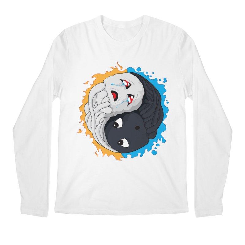 Yin Yang Ghast Squid Men's Longsleeve T-Shirt by Mythic Ink's Shop