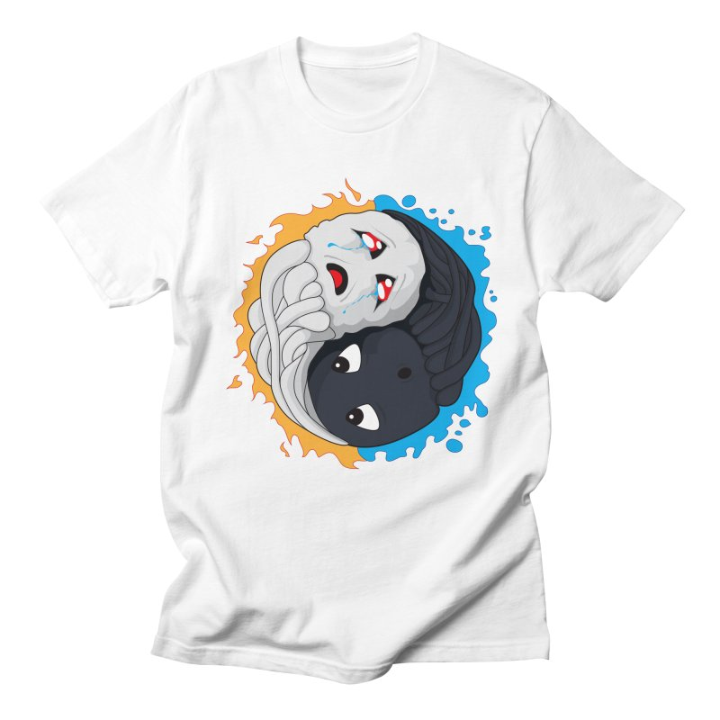 Yin Yang Ghast Squid Men's T-Shirt by Mythic Ink's Shop