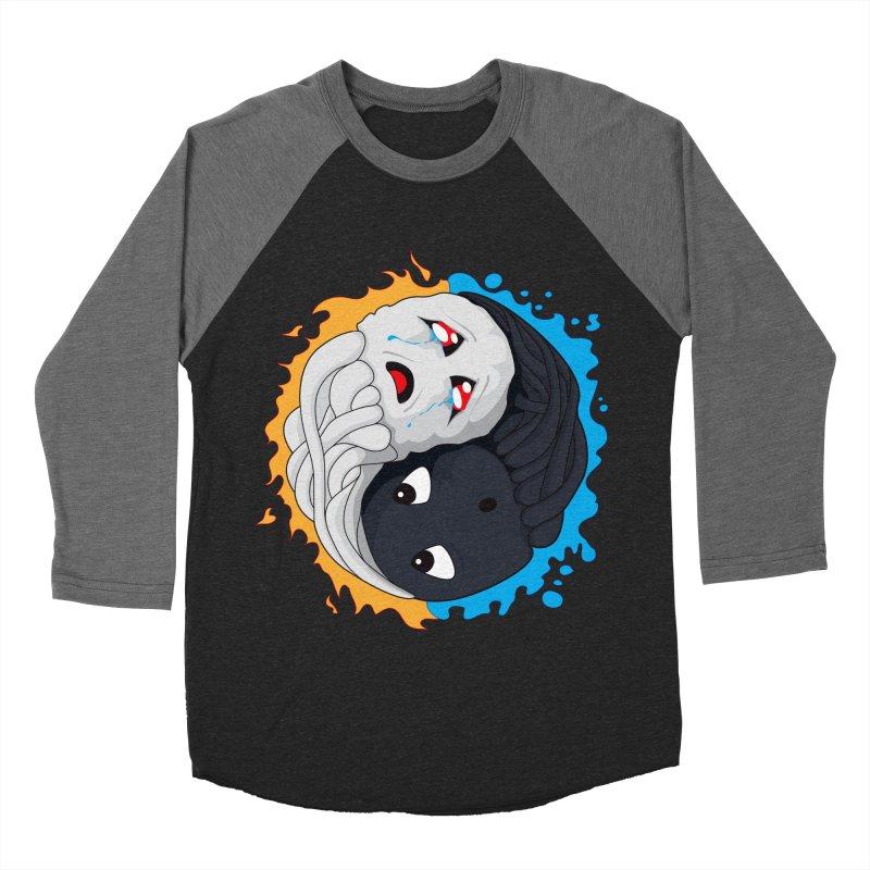 Yin Yang Ghast Squid Women's Baseball Triblend Longsleeve T-Shirt by Mythic Ink's Shop