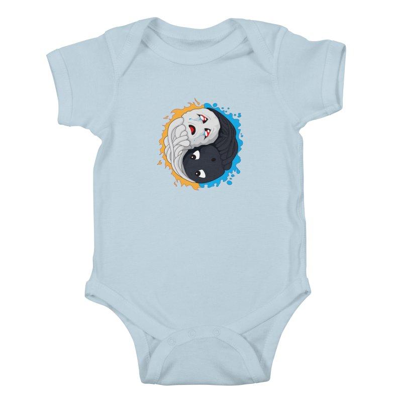 Yin Yang Ghast Squid Kids Baby Bodysuit by Mythic Ink's Shop