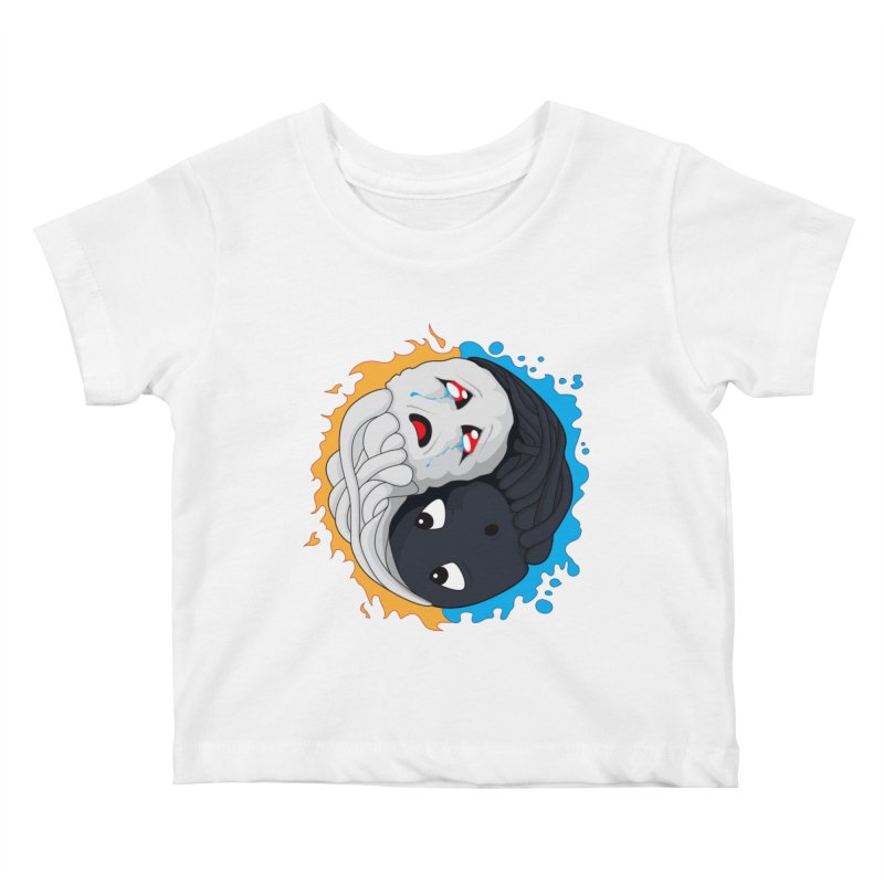 Yin Yang Ghast Squid Kids Baby T-Shirt by Mythic Ink's Shop