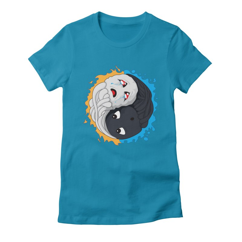 Yin Yang Ghast Squid Women's T-Shirt by Mythic Ink's Shop