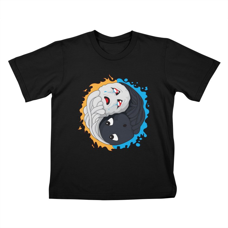 Yin Yang Ghast Squid Kids T-Shirt by Mythic Ink's Shop
