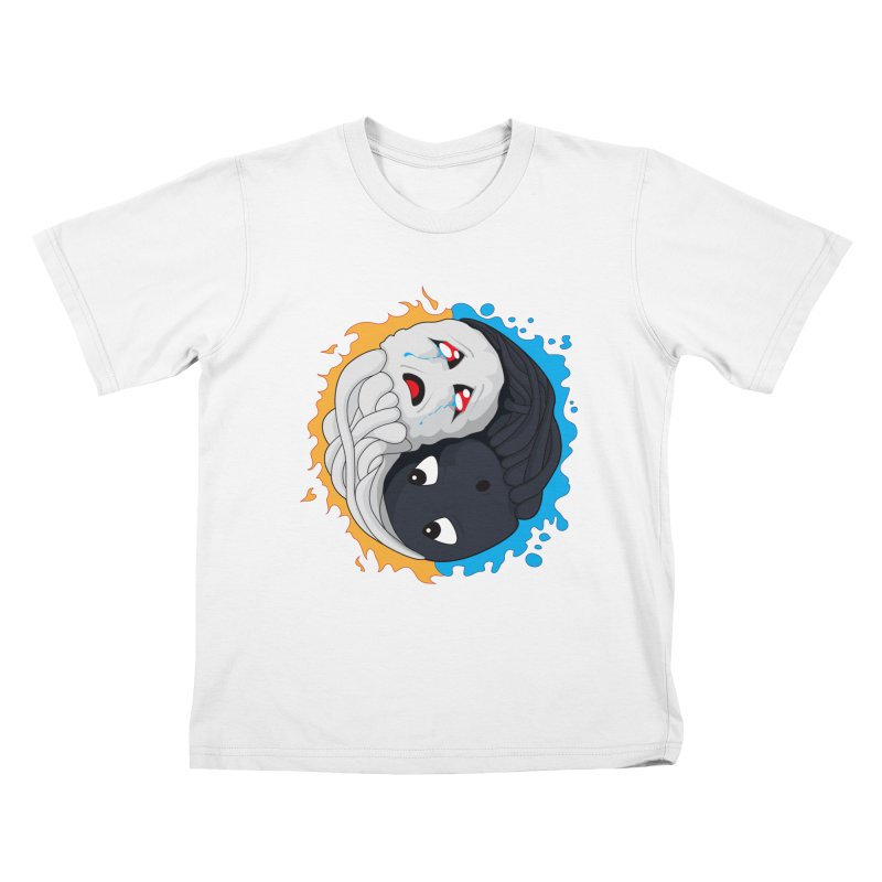 Yin Yang Ghast Squid Kids T-Shirt by Mythic Ink's Shop