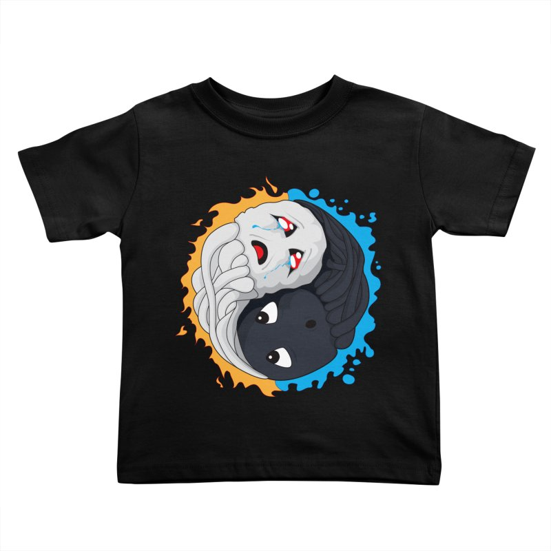 Yin Yang Ghast Squid Kids Toddler T-Shirt by Mythic Ink's Shop