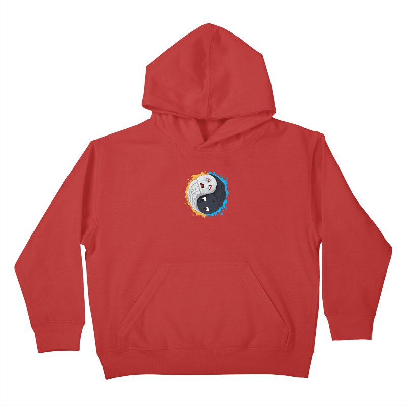 Yin Yang Ghast Squid Kids Pullover Hoody by Mythic Ink's Shop