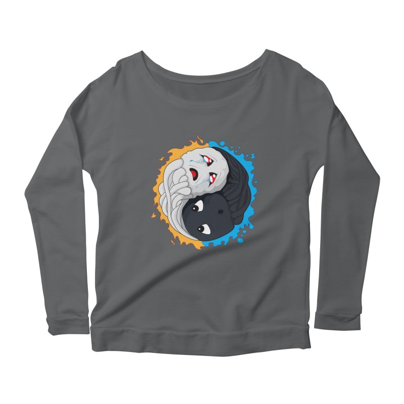Yin Yang Ghast Squid Women's Longsleeve T-Shirt by Mythic Ink's Shop