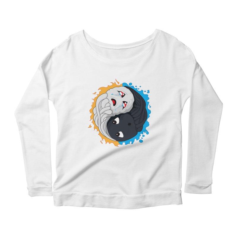 Yin Yang Ghast Squid Women's Scoop Neck Longsleeve T-Shirt by Mythic Ink's Shop