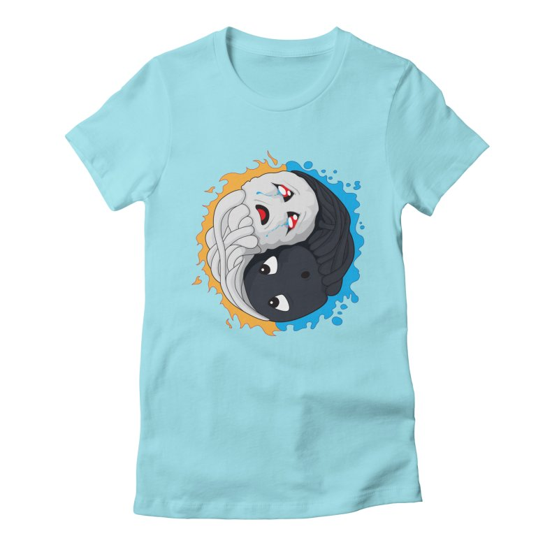 Yin Yang Ghast Squid Women's T-Shirt by Mythic Ink's Shop