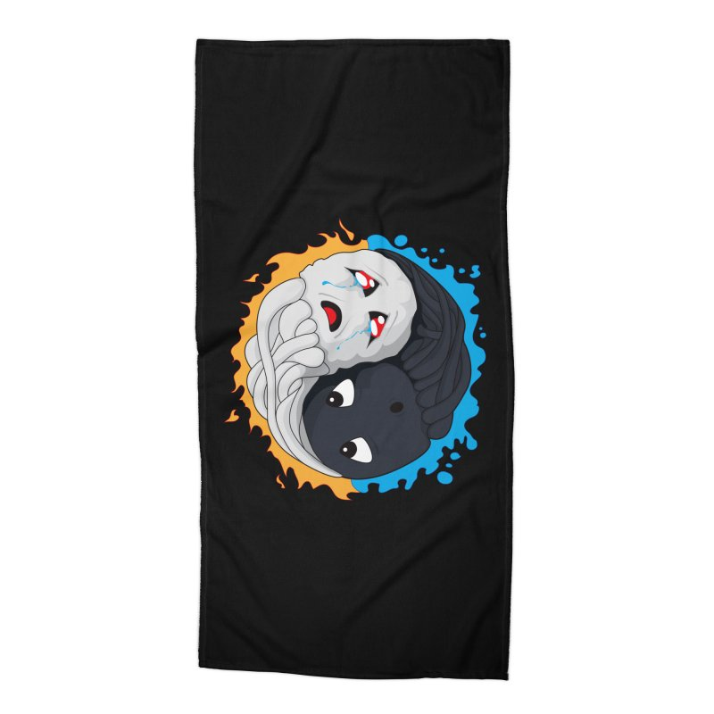 Yin Yang Ghast Squid Accessories Beach Towel by Mythic Ink's Shop