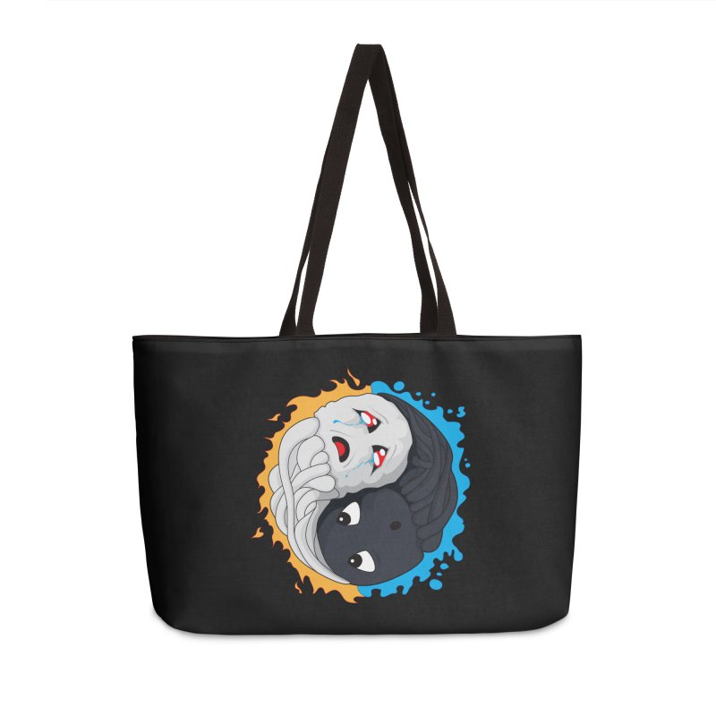 Yin Yang Ghast Squid Accessories Weekender Bag Bag by Mythic Ink's Shop
