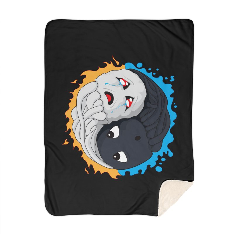 Yin Yang Ghast Squid Home Blanket by Mythic Ink's Shop