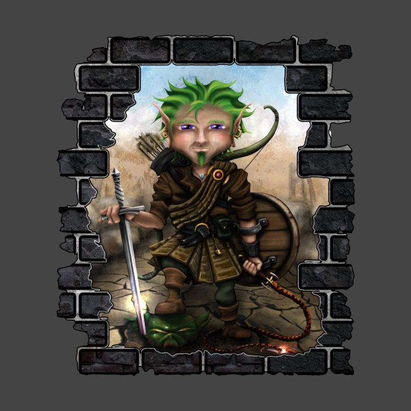Folkor the Gnome Bard Home Throw Pillow by Mythic Ink's Shop