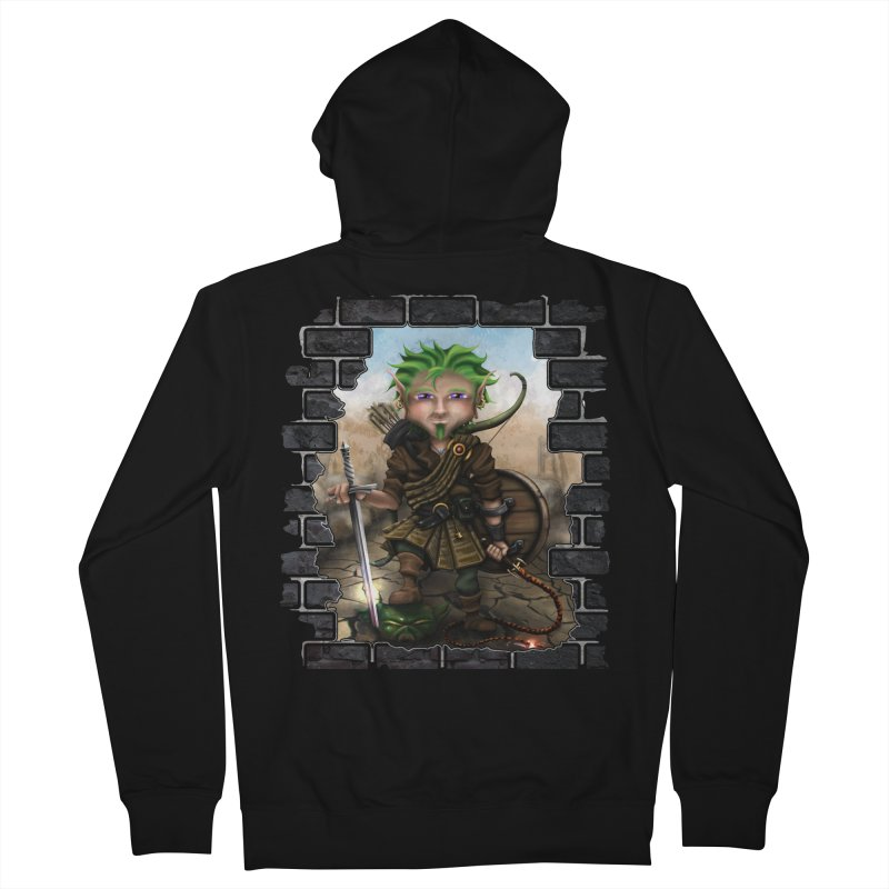 Folkor the Gnome Bard Women's French Terry Zip-Up Hoody by Mythic Ink's Shop
