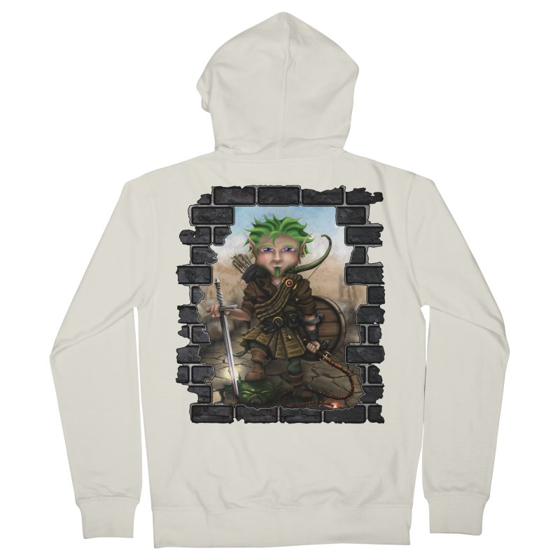 Folkor the Gnome Bard Men's Zip-Up Hoody by Mythic Ink's Shop
