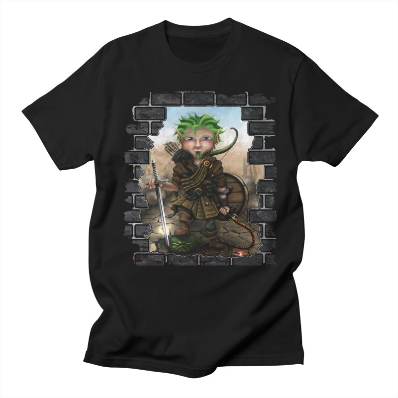 Folkor the Gnome Bard Men's T-Shirt by Mythic Ink's Shop