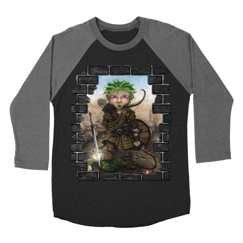 Folkor the Gnome Bard Men's Baseball Triblend Longsleeve T-Shirt by Mythic Ink's Shop