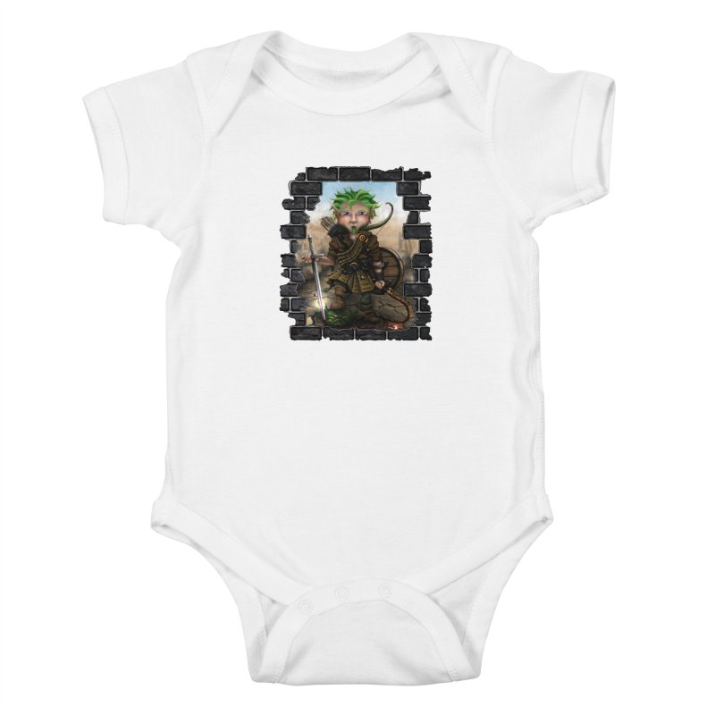 Folkor the Gnome Bard Kids Baby Bodysuit by Mythic Ink's Shop